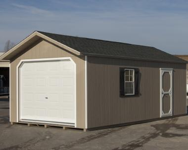 12x24 Peak One-Car Portable Garage in stock at Pine Creek Structures of Hatfield PA